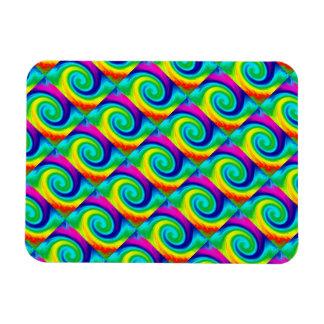 Rainbow Swirl Abstract Art Design Magnet