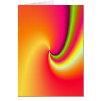 Rainbow swirl background card