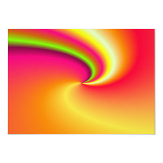 "Rainbow swirl background 5"" x 7"" invitation card"