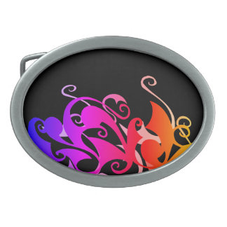 Rainbow Swirl Belt Buckle