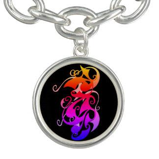 Rainbow Swirl Charm Bracelet