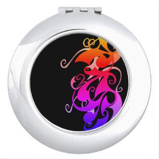 Rainbow Swirl (Circle Compact) Mirror For Makeup