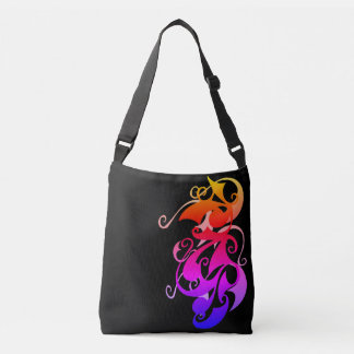 Rainbow Swirl Cross Body Bag