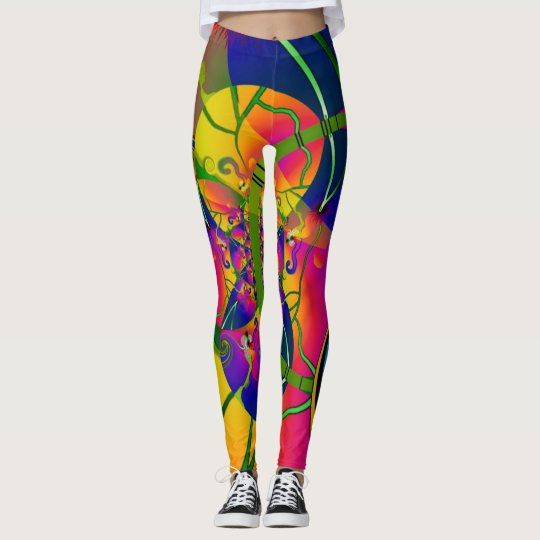 Rainbow Swirl Design 2 Leggings