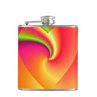 Rainbow Swirl Love Heart Flasks