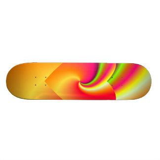 Rainbow Swirl Love Heart Skate Boards