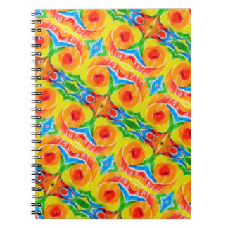Rainbow Swirl Notebook