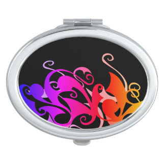 Rainbow Swirl (Oval Compact) Makeup Mirror