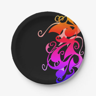 Rainbow Swirl Paper Plates