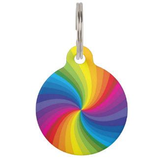 Rainbow Swirl Pet ID Tag