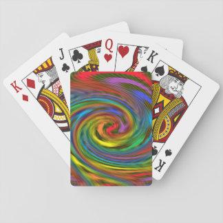 Rainbow Swirl Playing Cards