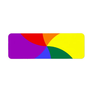 Rainbow Swirl Return Address Label
