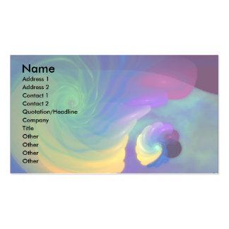 Rainbow Swirl Standard Card Business Card Template