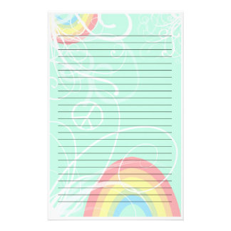 Rainbow Swirl Stationery