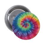 Rainbow Swirl Tie Dye Flair Button