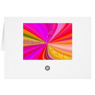 Rainbow Swirl with Stars Card