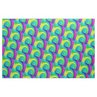 Rainbow Swirls Abstract Art Design Fabric