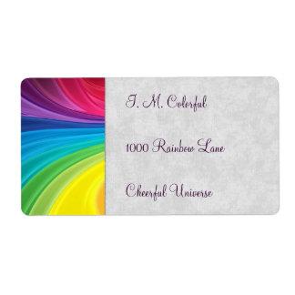 Rainbow Swirls Shipping Label