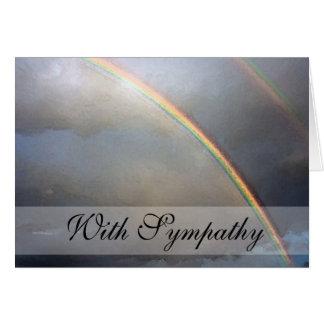 Rainbow Sympathy Condolence Card