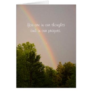 Rainbow Sympathy Note Card