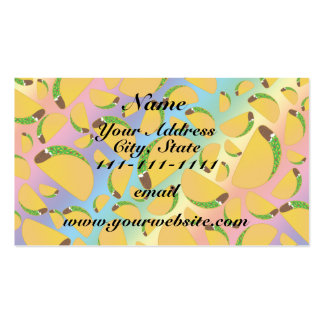 Rainbow tacos Double-Sided standard business cards (Pack of 100)