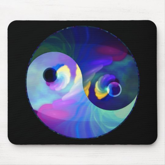 Rainbow Taijitu Yin Yang Mouse Pad