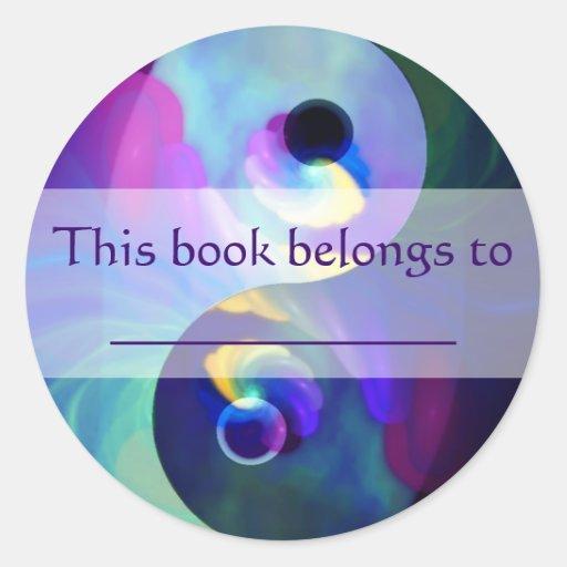 Rainbow Taijitu Yin Yang Round Sticker