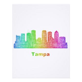 Rainbow Tampa skyline Letterhead