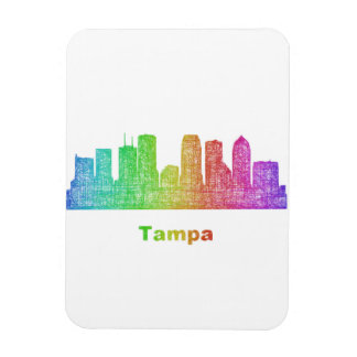 Rainbow Tampa skyline Rectangular Photo Magnet