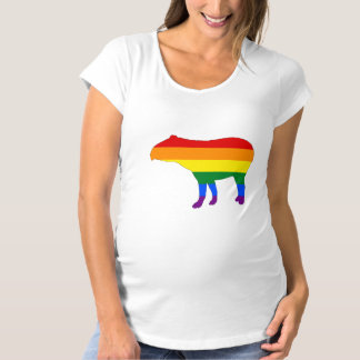 Rainbow Tapir Maternity T-Shirt