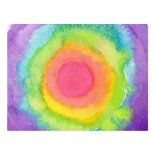 Rainbow Target Postcard