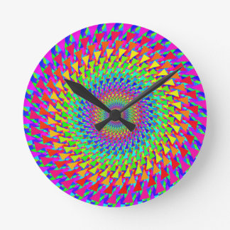 Rainbow Target Round Wall Clock