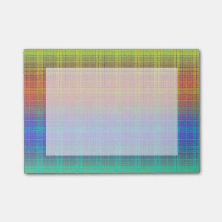 Rainbow Tartan Plaid Customize or Go Bold Plaid Post-it Notes