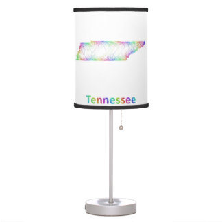 Rainbow Tennessee map Desk Lamps