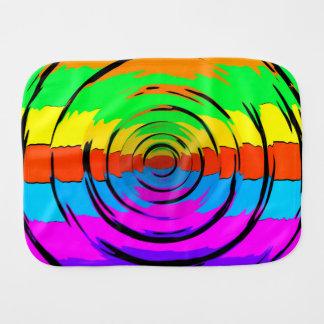 Rainbow Test Pattern Baby Burp Cloths