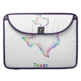 Rainbow Texas map MacBook Pro Sleeve
