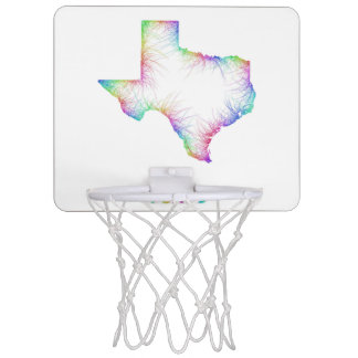 Rainbow Texas map Mini Basketball Backboard