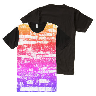 Rainbow Textile Drawing by Aleta All-Over-Print T-Shirt