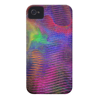 Rainbow Texture Fractal iPhone 4 Case-Mate Case