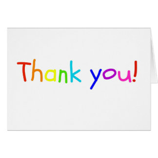 Rainbow Thank You Card from Child