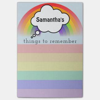 Rainbow Things to Remember List Post It Post-it Notes