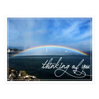 Rainbow Thinking of You Postcard