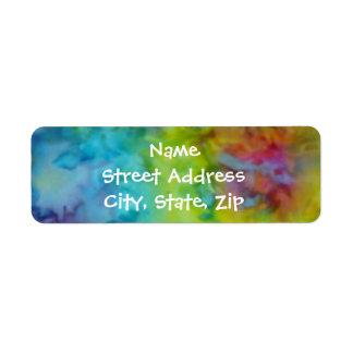 [Rainbow Tie-Dye] Colourful Return Address Sized