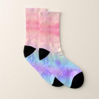 Rainbow Tie-Dye Marbled Socks
