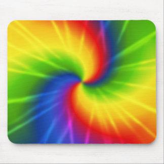 Rainbow (tie-dye) mouse pad