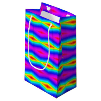Rainbow tie-dye small gift bag
