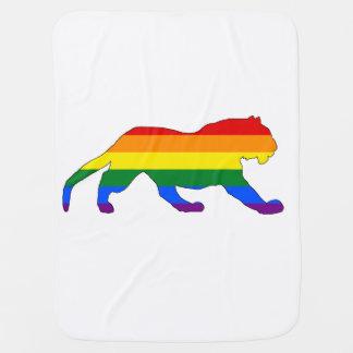 Rainbow Tiger Baby Blanket