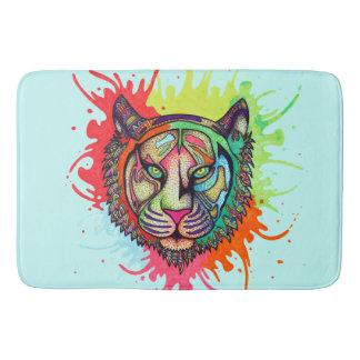 Rainbow Tiger Bath Mat