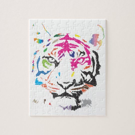 Rainbow Tiger Jigsaw Puzzle