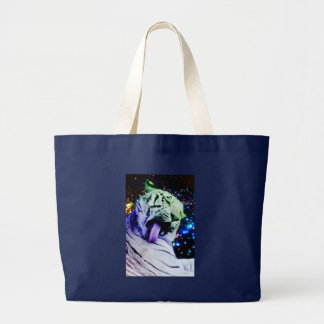 Rainbow Tiger Large Tote Bag